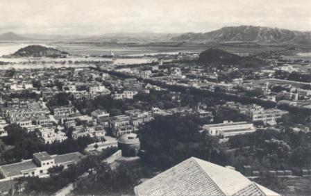 Vista da parte Norte e Oeste de Macau